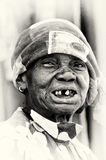 An old Ghanaian lady without some teeth Royalty Free Stock Images