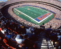 Old Giants Stadium, Rutherford, NJ. Giants Stadium filled to capacity. (Image taken from color slide Stock Photo