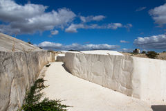 Old Gibellina - earthquake ruins, cast of cement - work of art Memorial, Sicily Royalty Free Stock Image