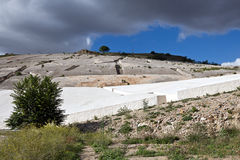 Old Gibellina - Ruins covered by Burri artist after the earthquake, Sicily Stock Photo