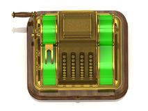 Old gilded cash register Royalty Free Stock Photography