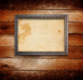 Old gilded wooden frame Royalty Free Stock Images