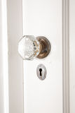 Old Glass and Brass Doorknob Stock Photography