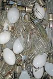 Old glass bulbs burned trash Royalty Free Stock Image