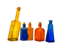 Old glass decorative bottles Stock Photography