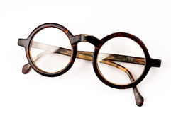 Old glasses isolated Stock Image