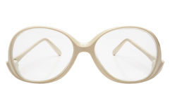Old glasses in a plastic frame Stock Images