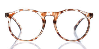 Old Glasses on White background Royalty Free Stock Photography