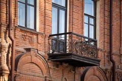 Old glazed balconies royalty free stock image