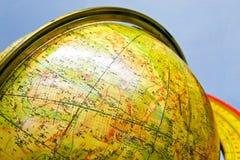 Old globe. Close up shot of old education globe Stock Photo