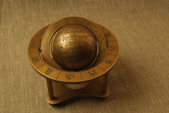 Old globe. With zodiac, cooper globe Royalty Free Stock Photos