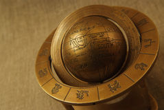 Old globe. With zodiac, cooper globe Royalty Free Stock Photography