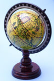 Old globe. Old yellow globe royalty free stock photos