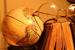Old globe with Book Stock Photo