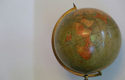 Old globe that can see Africa. Scene of the old terrestrial globe with a view of Africa Royalty Free Stock Images
