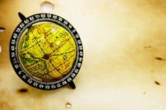 Old globe on grunge background Stock Images