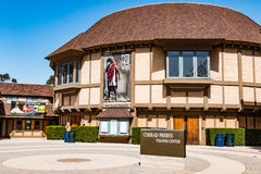 Old Globe Theatre in Balboa Park. SAN DIEGO, CALIFORNIA - APRIL 28, 2017:  The Old Globe Theatre at the Simon Edison Centre for the Performing Arts, a Stock Image