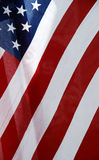 Old Glory #2. American flag blowing in the breeze Stock Photos
