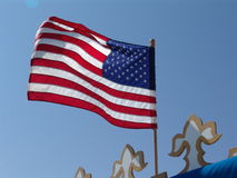 Old Glory. American Flag Flying in The Wind Royalty Free Stock Images