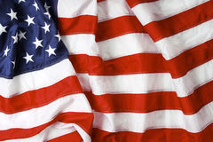 Old glory. American flag background - shot and lit in studio Royalty Free Stock Photo