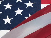 Old Glory. American flag with sun shining through, blowing in the wind, flying free Royalty Free Stock Photos