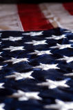 Old Glory. A macro of the American flag Stock Images