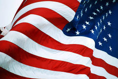 Old GLory. Closeup of American Flag Waving in the Wind Royalty Free Stock Images