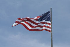 Old Glory-American Flag. Old Glory flag flying on the 4th of July stock photos