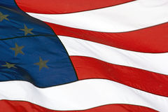 Old Glory American Flag Waving. Waving red, white and blue of the American flag Royalty Free Stock Photos