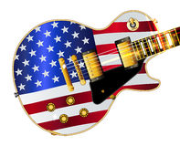 Old Glory Flag Guitar Stock Photography