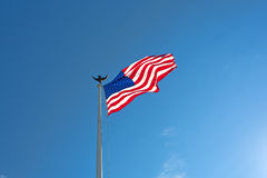 Old Glory flapping in the wind Stock Image