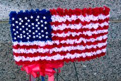 Old Glory in Floral Stock Image