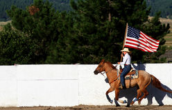 Old Glory Flying At The Fair Royalty Free Stock Image