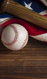 Old Glory and the National pastime Stock Photography