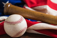 Old Glory and the National pastime Royalty Free Stock Image