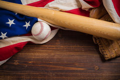 Old Glory and the National pastime Royalty Free Stock Photos