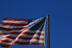 Old Glory. Still flies in our county stock photo