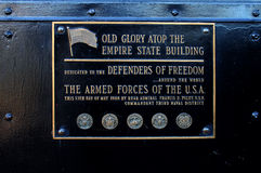 Old Glory Plaque Royalty Free Stock Photos