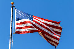 Old Glory is Torn Royalty Free Stock Image