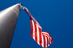 Old Glory-2. U.S. flag waving high in the sky Stock Photography