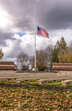 Old Glory waving in the wind Oregon. Stock Photo