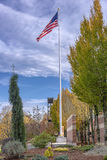 Old Glory waving in the wind Oregon. Stock Images