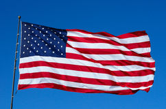 Old Glory in the Wind Stock Photos