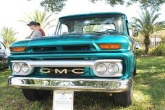 Old GMC Pickup-1966 at the car show stock photos