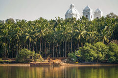 Old Goa cathedral Stock Photo