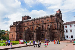 Old Goa famous stone church building Stock Image
