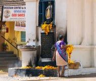 Old Goa saint francis triptych Royalty Free Stock Photo