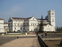 Old Goa world heritage site. View of St catheridial  at Old Goa Royalty Free Stock Photo