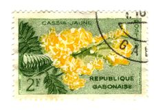 Old Gobon stamp with flower Stock Photography