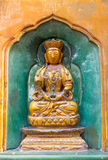 Old gold Buddha statue Royalty Free Stock Image